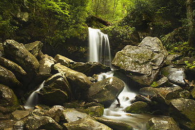 Grotto Falls - Smoky Mountains Poster by Andrew Soundarajan