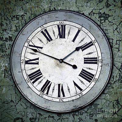 Grungy Clock Poster by Carlos Caetano