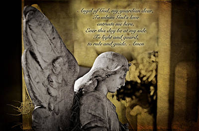 Guardian Angel Prayer Poster by Bonnie Barry