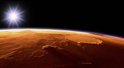 Gusev Crater, Mars, Artwork Poster by Detlev Van Ravenswaay