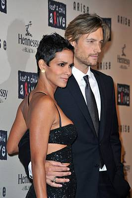 Halle Berry, Gabriel Aubry At Arrivals Poster by Everett