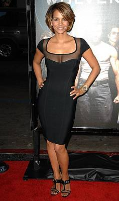 Halle Berry Wearing A Herve Leroux Poster by Everett