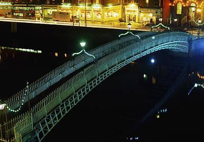 Hapenny Bridge, Dublin City, Co Dublin Poster by The Irish Image Collection