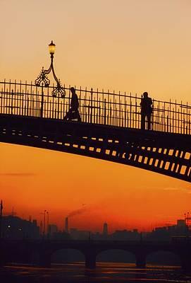Hapenny Bridge, Dublin, Co Dublin Poster by The Irish Image Collection