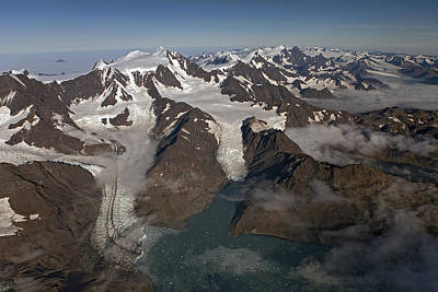 Harker And Hamberg Glacier Poster by Ingo Arndt