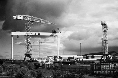 Harland And Wolff Shipyard Belfast Northern Ireland Poster by Joe Fox