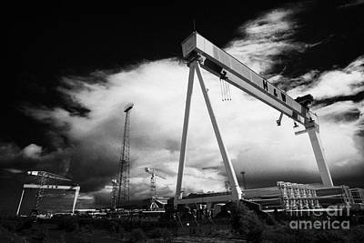 Harland And Wolff Shipyard Titanic Quarter Queens Island Belfast Northern Ireland Uk Poster by Joe Fox