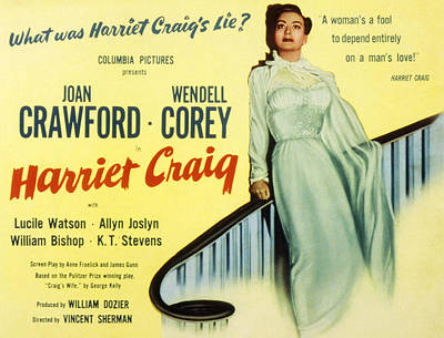 Harriet Craig, Joan Crawford, 1950 Poster by Everett