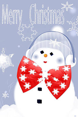 Have A Frosty Holiday Poster by Debra     Vatalaro