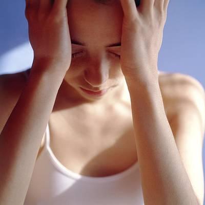 Headache Poster by Cristina Pedrazzini