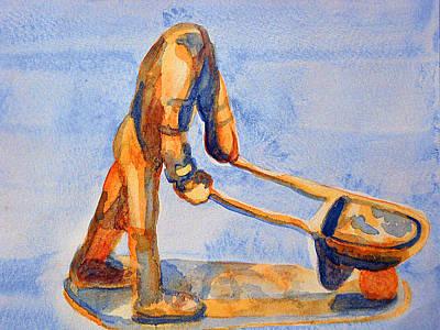 Headless Laborer Poster by Duwayne Washington