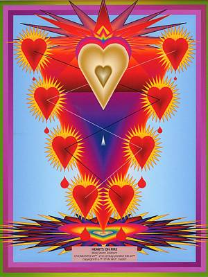 Hearts On Fire Poster by Steven Welp
