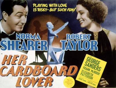 Her Cardboard Lover, Robert Taylor Poster by Everett