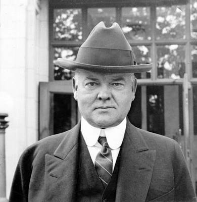 Herbert Hoover - President Of The United States Of America - C 1924 Poster by International  Images
