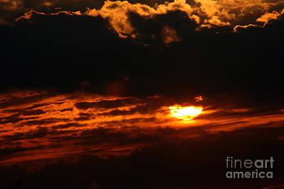 Hiding Sunset Poster by Susan Stevenson