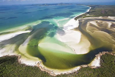 Hill Inlet, Whitsunday Islands, Australia Poster by Peter Adams