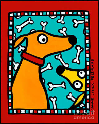 Hitchcock Dog Poster by Anne Leuck