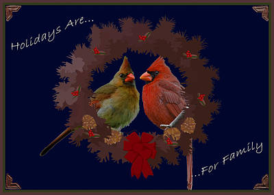Holidays Are For Family Poster by DigiArt Diaries by Vicky B Fuller