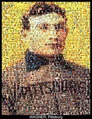Honus Wagner Mosaic Poster by Paul Van Scott