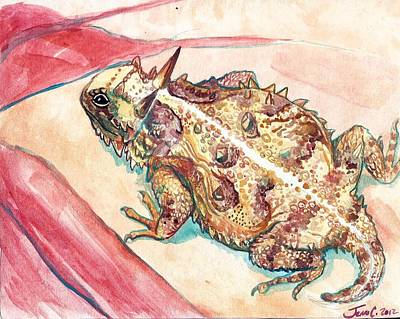 Horny Toad Poster by Jenn Cunningham