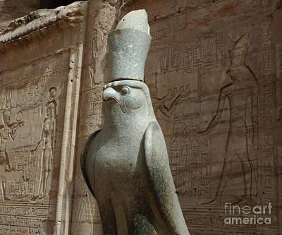 Horus The Falcon At Edfu Poster by Bob Christopher