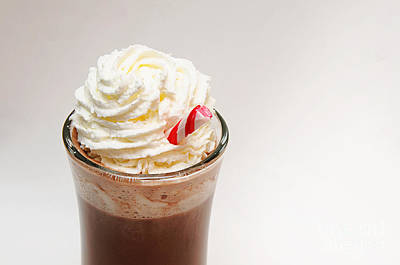 Hot Chocolate And Whipped Cream Poster by Andee Design