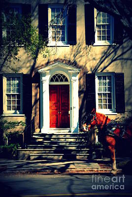 House Door 3 In Charleston Sc  Poster by Susanne Van Hulst