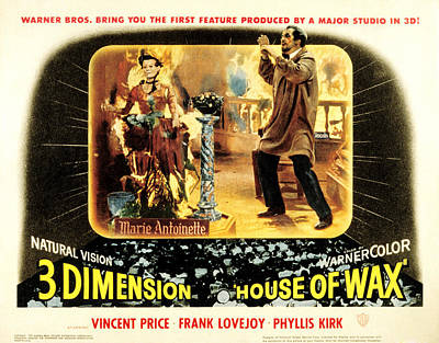 House Of Wax, Vincent Price, 1953 Poster by Everett