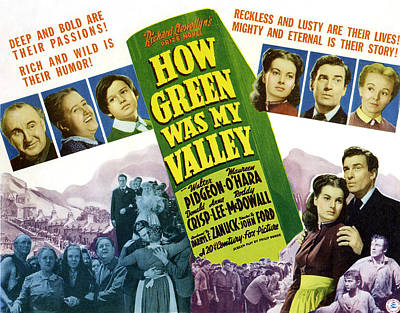 How Green Was My Valley, Maureen Ohara Poster by Everett