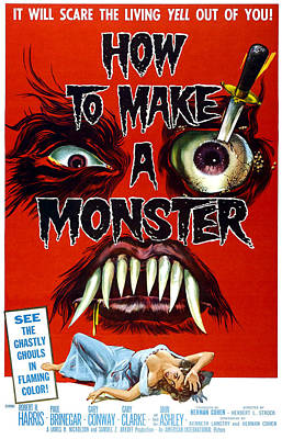 How To Make A Monster, 1-sheet Poster Poster by Everett