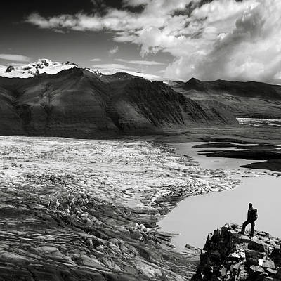 Iceland Glacier Tongue Poster by Nina Papiorek