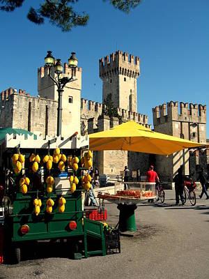 Il Venditore Di Limoni A Sirmione Poster by Riccardo Maffioli