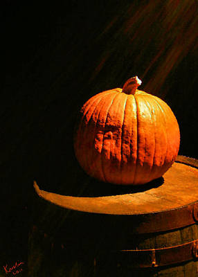 Illuminated Pumpkin Poster by Kristin Elmquist