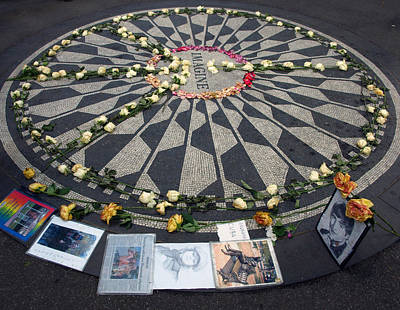 Imagine In Strawberry Fields Poster by Chris Ann Wiggins