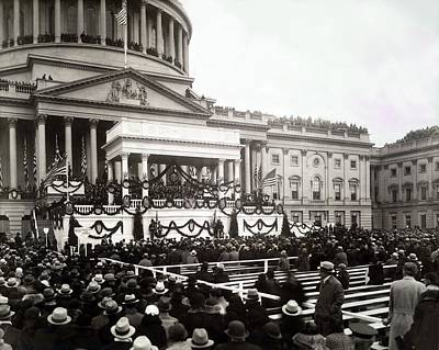 Inauguration Of President Franklin Poster by Everett