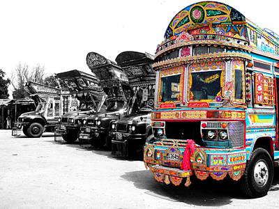 Indian Truck Poster by Sumit Mehndiratta