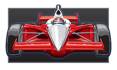 Indy Car Poster by Steven Schader