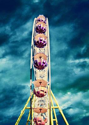 infrared Ferris wheel Poster by Stelios Kleanthous