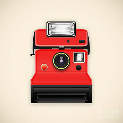 Instant Camera With A Blank Photo Poster by Setsiri Silapasuwanchai