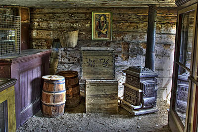 Interior Of Old-west Chinese Store - Nevada City Montana Poster by Daniel Hagerman