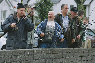 Irish Anglers Cast Their Rods Poster by Paul Nicklen