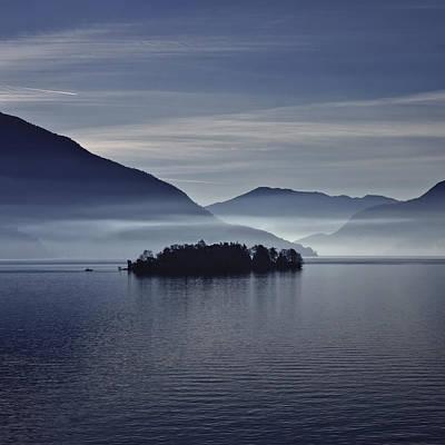 Island In Morning Mist Poster by Joana Kruse