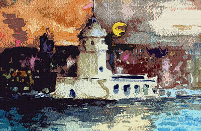 Istanbul Constantinople Poster by Mindy Newman