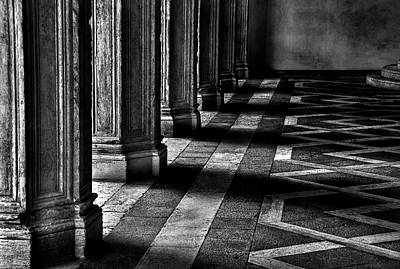 Italian Columns In Venice Poster by McDonald P. Mirabile