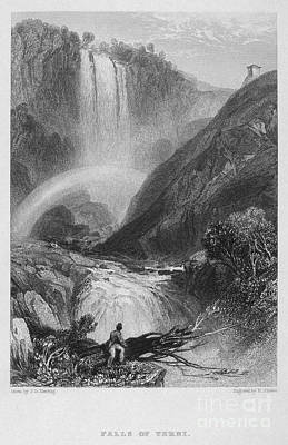 Italy: Waterfall, 1833 Poster by Granger