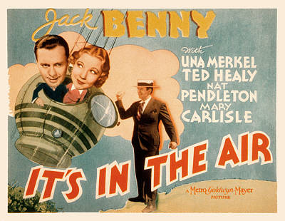Its In The Air, Jack Benny, Una Merkel Poster by Everett