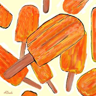 Its Raining Dreamsicles Poster by Alec Drake