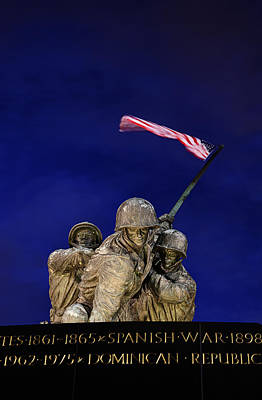 Iwo Jima Memorial Front View Poster by Metro DC Photography