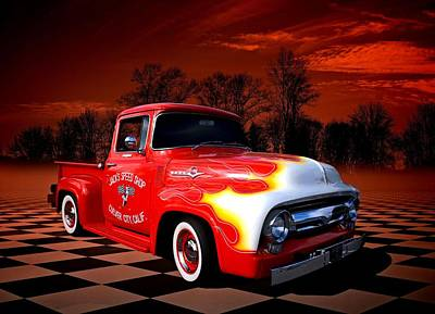 Jacks Speed Shop 1956 Ford Pickup Poster by Tim McCullough