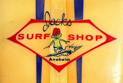Jacks Surf Shop Poster by Ron Regalado